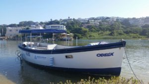 Our new addition our new motor boat on the Plett lagoon